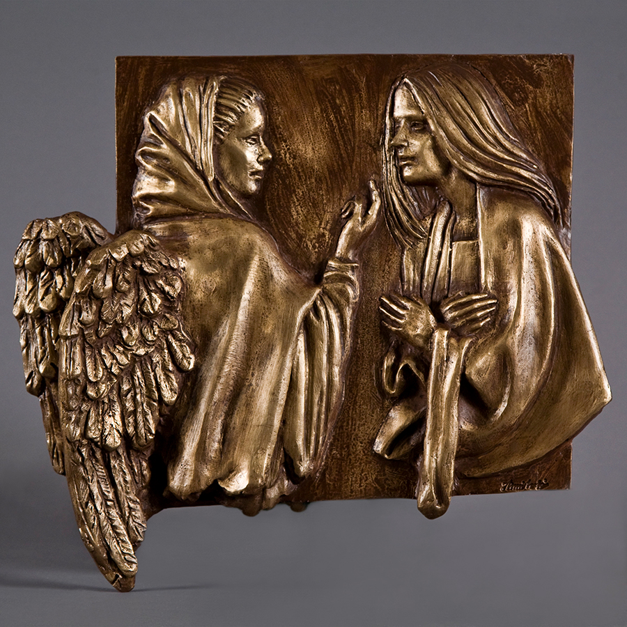 Annunciazione realizzata nel 2016 in bronzo