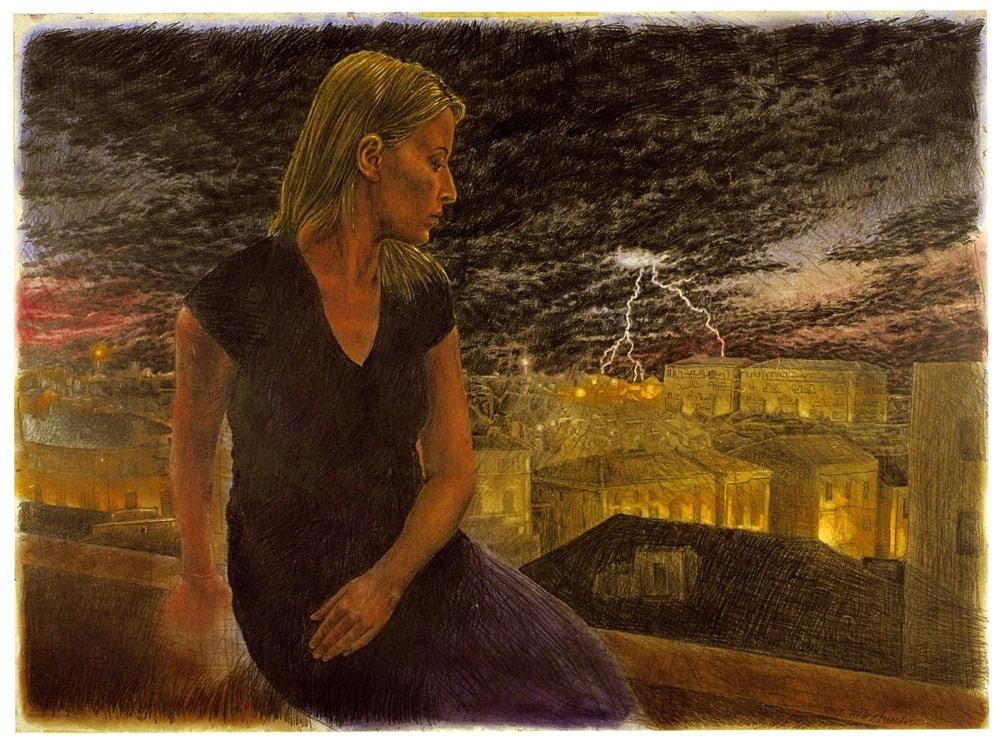 ATTESA, TEMPO, DESTINO 2007, Disegno a matita, 820x1120 mm Proprietà dell'artista
