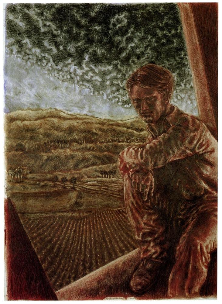 CASA SUL RETRO 2007, Disegno a matita, 1120x820 mm Proprietà dell'artista