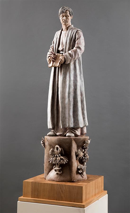 Cecco D'Ascoli, 2019, Terracotta dipinta, alt. cm 122