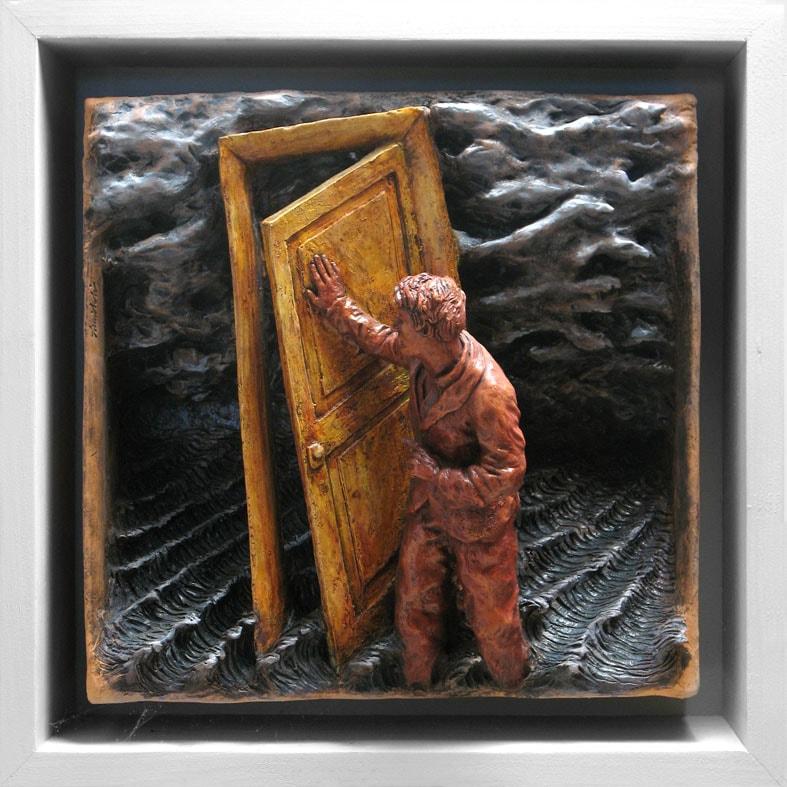 CIELI DISTANTI 2008, Terracotta, 32x32 cm Proprietà dell'artista