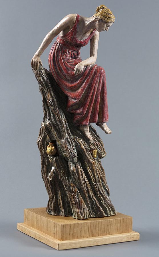 Colombario, 2018, Terracotta dipinta, alt. cm 43
