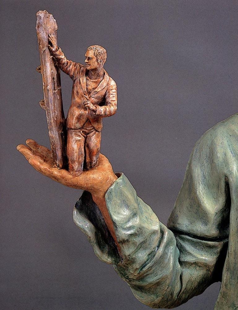 LA COMMOZIONE DEI GIORNI 2006, Terracotta, h 82 cm Proprietà dell'artista