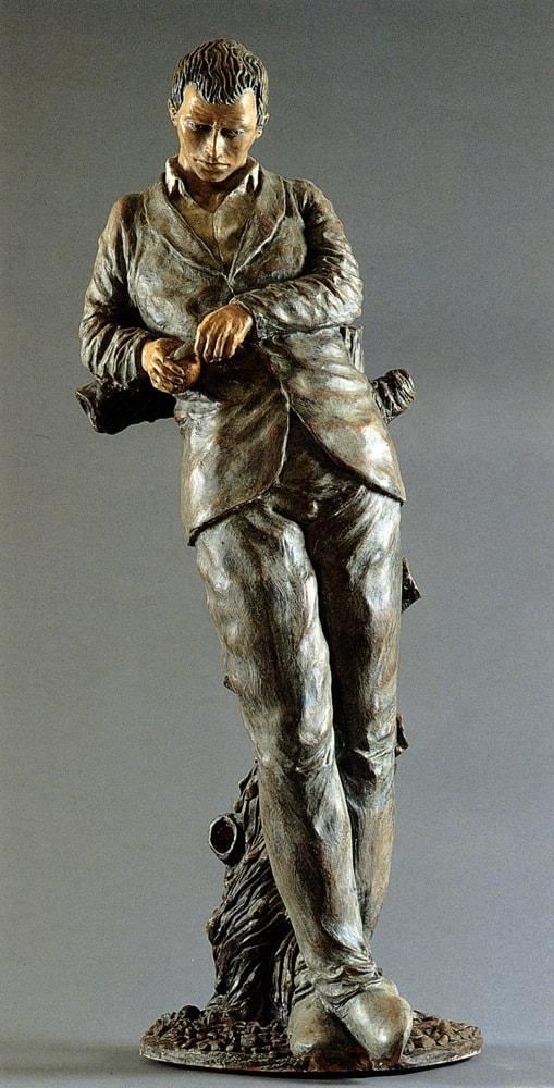 CONVERSAZIONE CON ME STESSO 2005, Terracotta, h 62 cm Proprietà privata