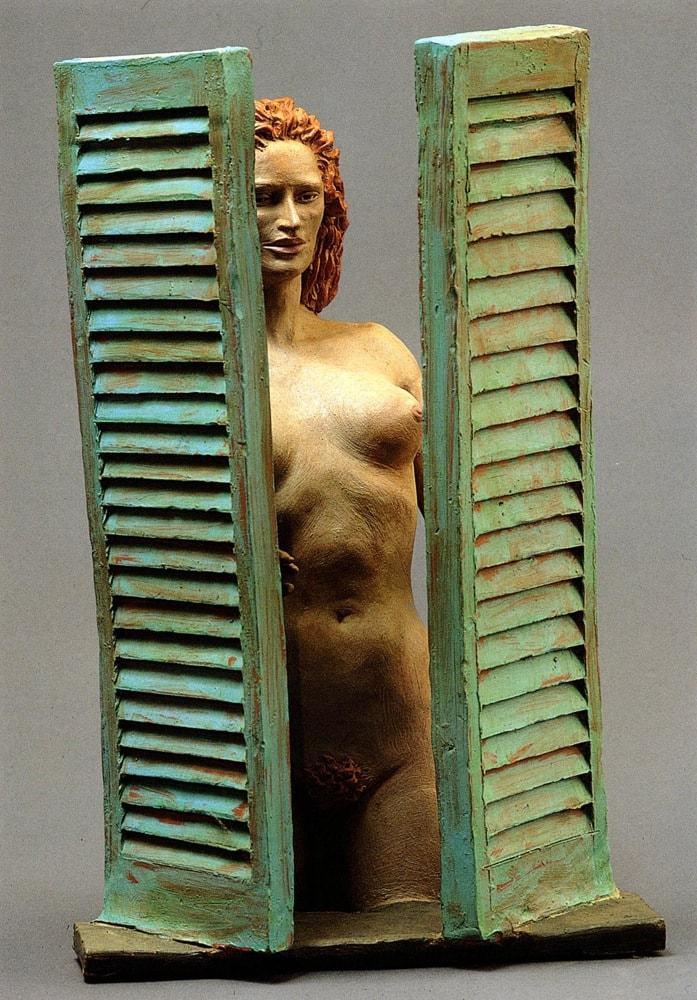 DONNA ALLA FINESTRA 2006, Terracotta, h 42 cm Proprietà dell'artista