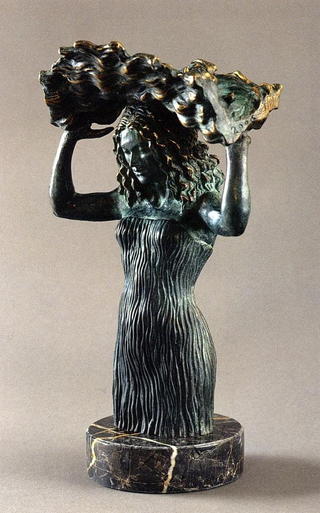 DONNA E PIOGGIA 2006, Bronzo, h 28 cm Collezione privata