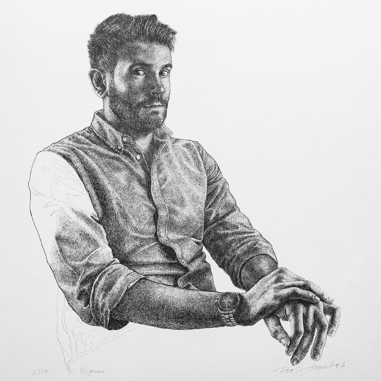 Eugenio, 2017 - 34.8x35 cm