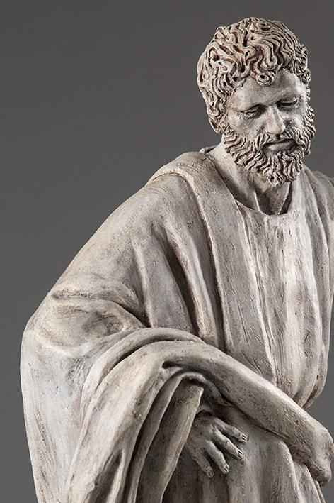 Giuda Taddeo 2018-2019; terracotta dipinta; h cm 64