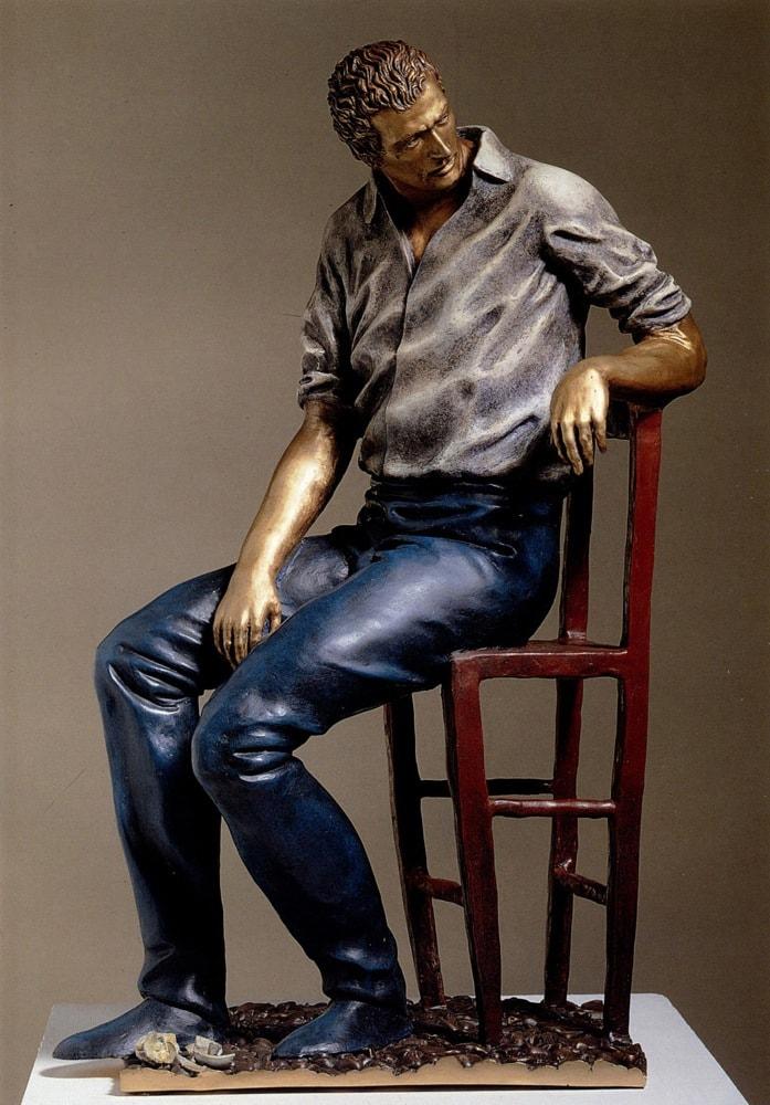 LES ENFANTES S'ENNUIENT LE DIMANCHE 2001, Bronzo dipinto, h 66 cm Collezione privata