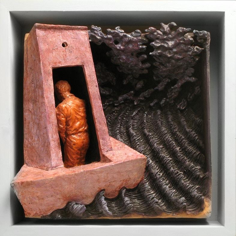 MARE E DESTINI 2008, Terracotta, 32x32 cm Proprietà dell'artista