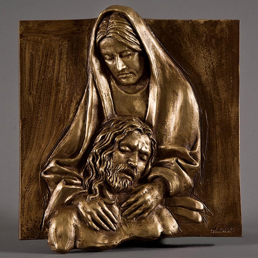 Morte di Cristo anno 2016 in bronzo