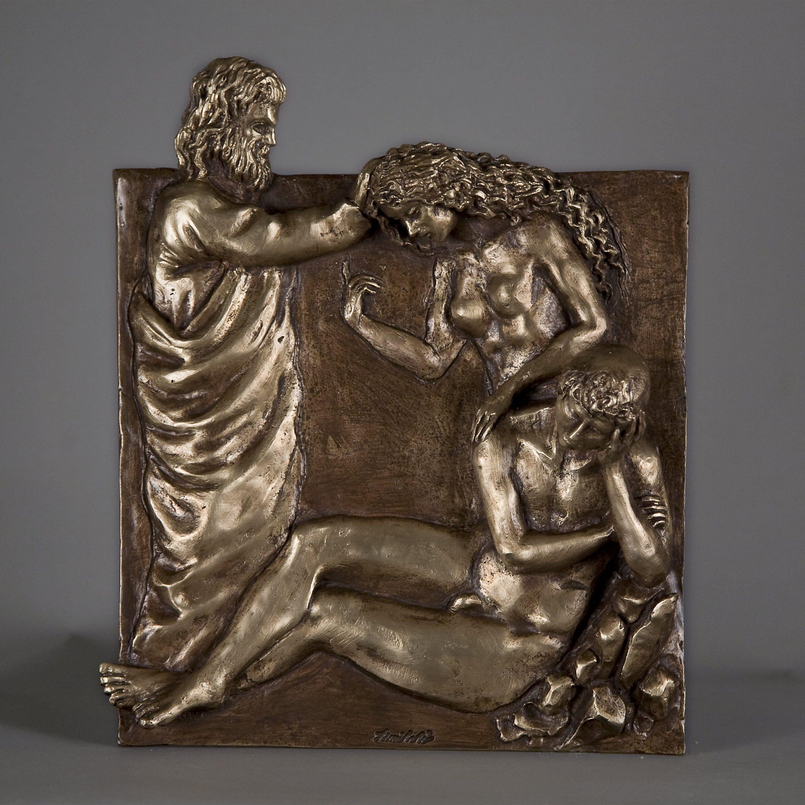 La Nascita di Eva realizzata nel 2015 in bronzo