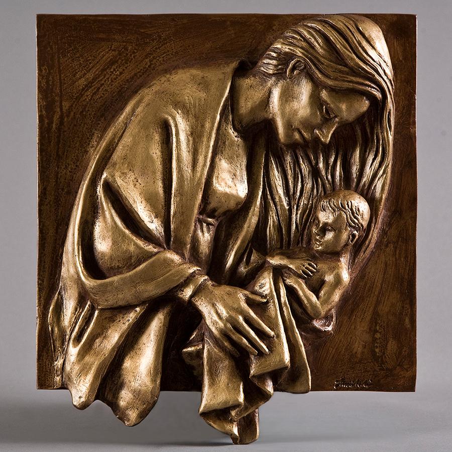 Nascita di Gesù realizzata nel 2016 in bronzo