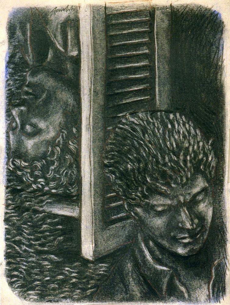 PRESENZE USUALI 2006, Disegno a matita, 190x130 cm Proprietà dell'artista