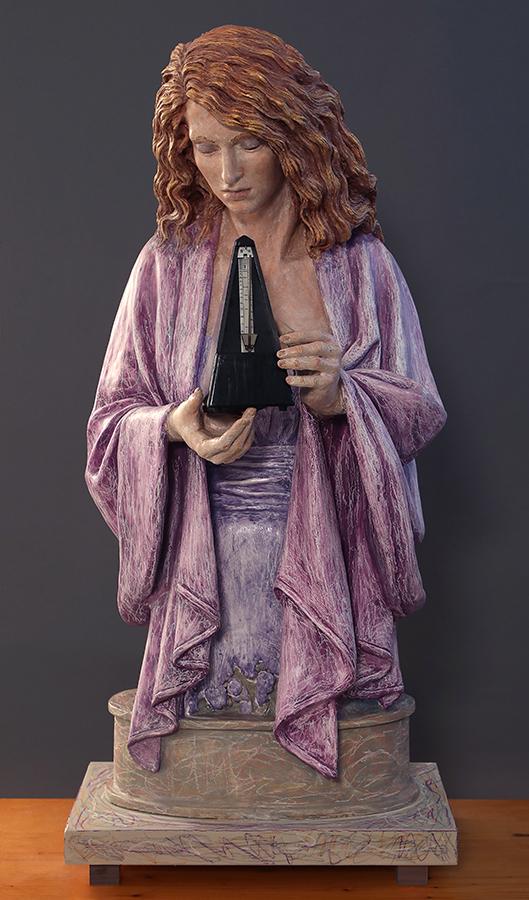 Presto!, 2017-2018,Terracotta dipinta, alt. cm 117