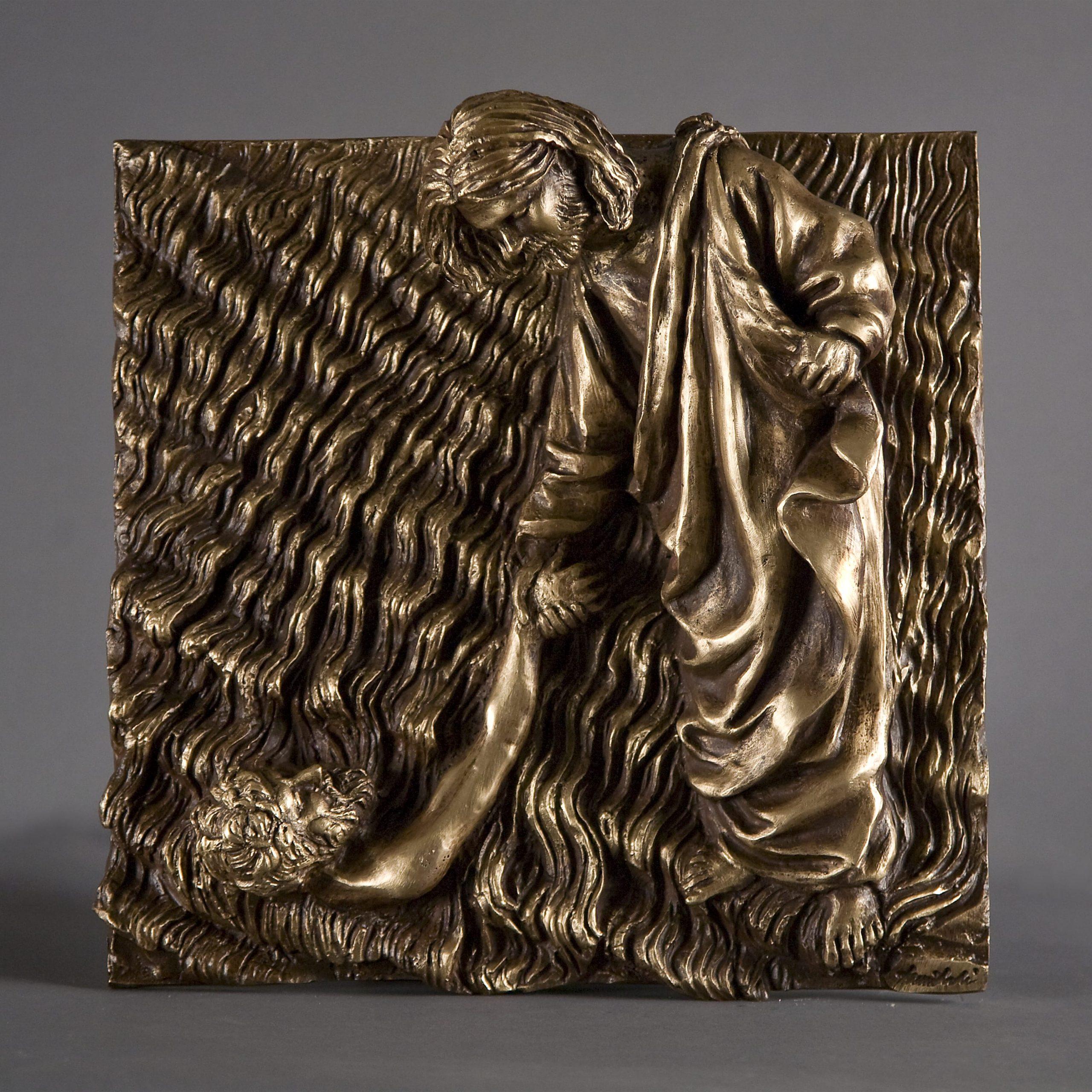 Il salvataggio di Pietro realizzato nel 2015 in bronzo
