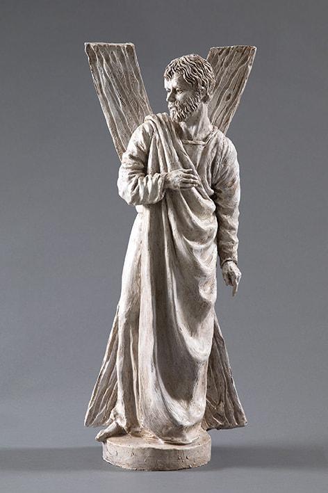 San Andrea 2018-2019; terracotta dipinta; h cm 60