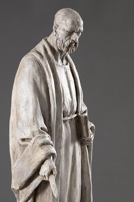San Bartolomeo 2018-2019; terracotta dipinta; h cm 56