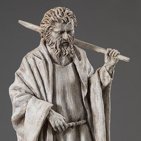San Giacomo Minore 2018-2019; terracotta dipinta; h cm 57