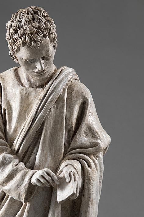 San Giovanni 2018-2019; terracotta dipinta; h cm 57