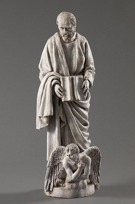 San Matteo 2018-2019; terracotta dipinta; h cm 58