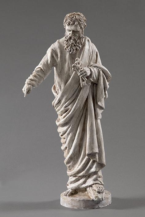 San Pietro 2018-2019; terracotta dipinta; h cm 58