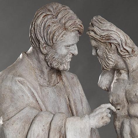 San Tommaso 2018-2019; terracotta dipinta; h cm 59