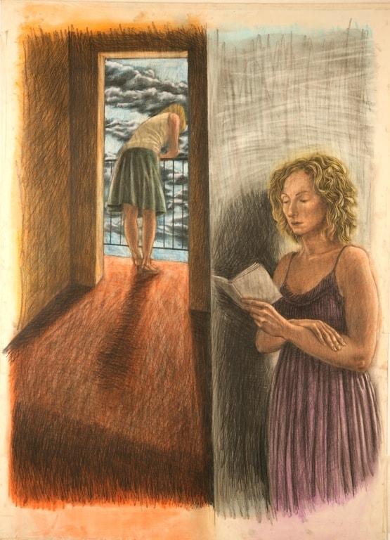 SENZA TITOLO 2010, Pastelli su carta, 82x112 cm