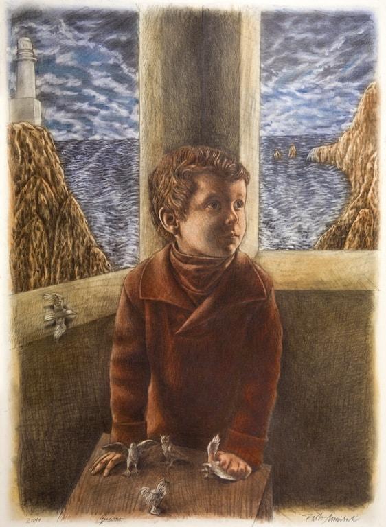 SENZA TITOLO 2011, Pastelli su carta, 112x82 cm