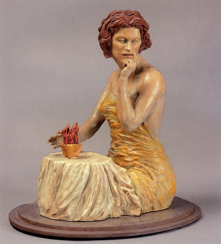 SIBILLA 2004, Terracotta, h 33 cm Proprietà dell'artista