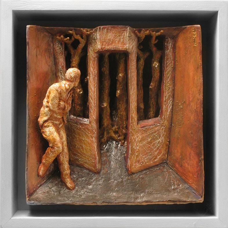 STANZA SEGRETA 2008, Terracotta, 32x32 cm Proprietà dell'artista