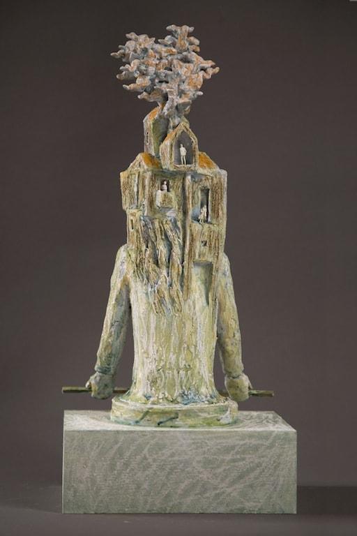 STANZE AL TRAMONTO 2011, Terracotta, h 43 cm