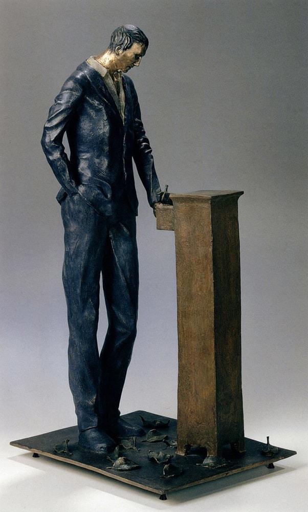 TEMPO PERSO 1999, Bronzo dipinto, h 73 cm Collezione privata