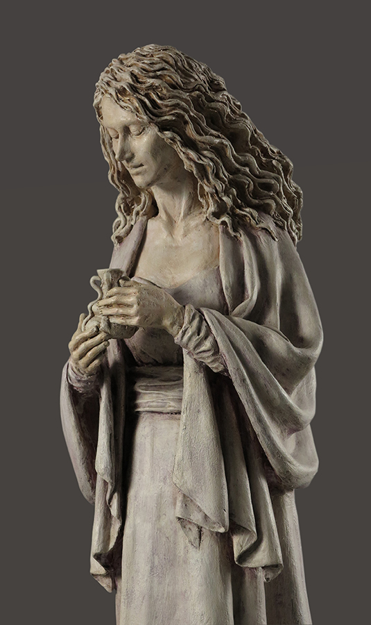 Verso il sepolcro, 2017, Terracotta dipinta, h cm 76